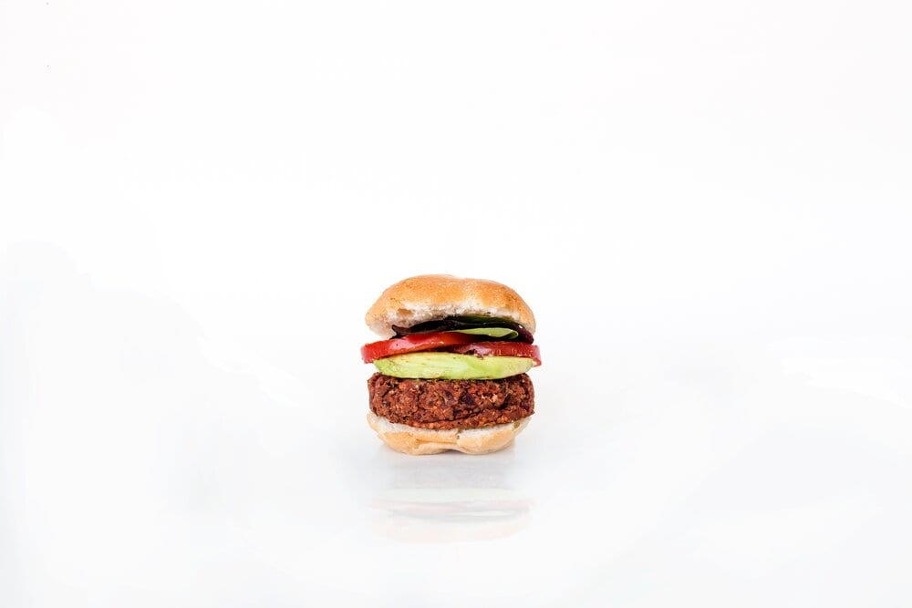 Meatless Burger on white background