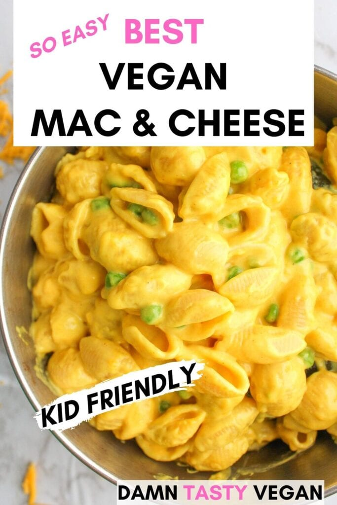 vegan mac and cheese on the stove