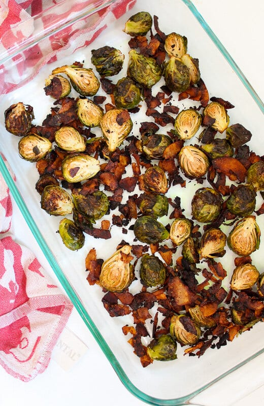 Roasted Brussels Sprouts with Coconut Bacon