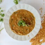 Slow Cooker Curry Red Lentil Soup