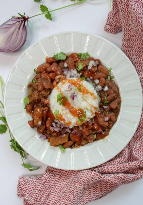 Easy vegan red beans and rice