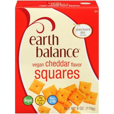 Box of vegan cheese its by Earth Balance